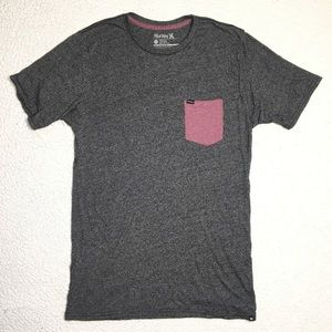 Hurley - Pocket Tee Crewneck Gray Tee Shirt